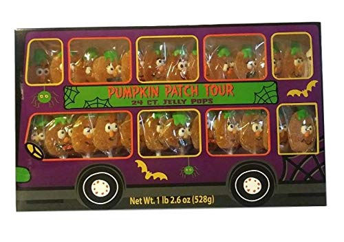 Pumpkin Patch Tour, Halloween Jelly Candy Pops, 24 Count ()