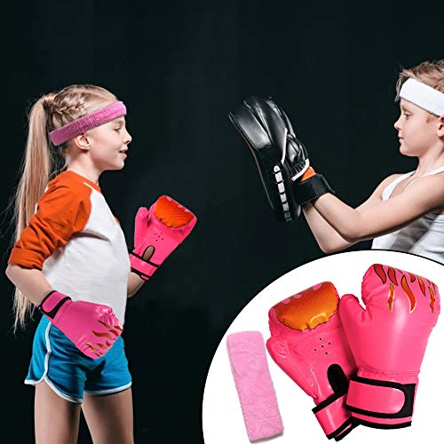 3 otters Kids Boxing Gloves, 4.9OZ Youth Boxing Gloves Sparring Children\'s Gloves Training Gloves for Toddler Pink