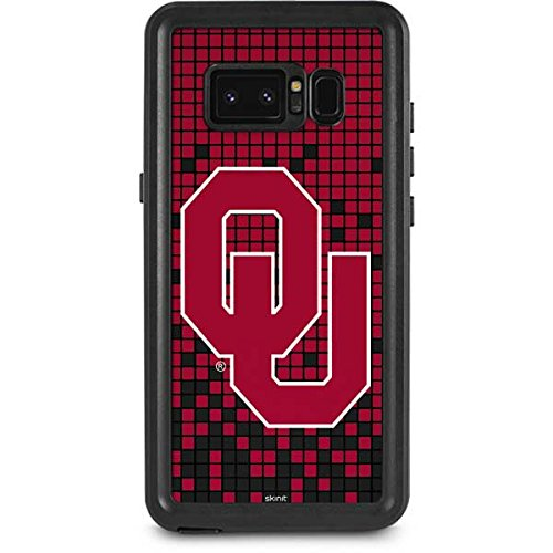 University of Oklahoma Galaxy Note 8 Case - Oklahoma Sooners Red Digi | Schools X Skinit Waterproof Case