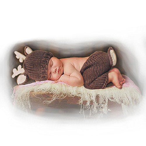 Newborn Baby Photography Prop: Crochet knitted hat and pants set