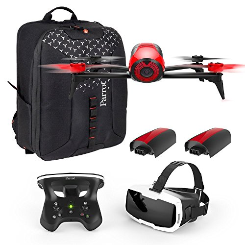 Parrot Bebop 2 FPV Fly More Pack - three batteries, FPV goggles, controller and backpack from Parrot
