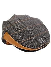Patrick Francis Designs Ltd Men Grey Tweed Celtic Knot Flat Cap