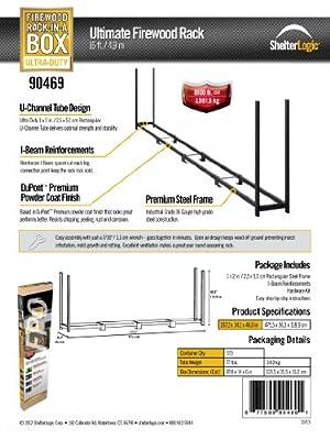 ShelterLogic Ultra Duty Firewood Rack without Cover