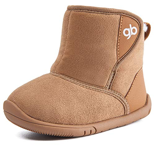 Baby Boys Girls Snow Boots Warm Winter Non Skid Infant Prewalker Shoes 6 9 12 16 18 24 Months Camel Size 4