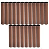 Yibuy 20PCS Red Bronze Smooth Chandelier Candle Sleeve 100mm Length 16mm Dia