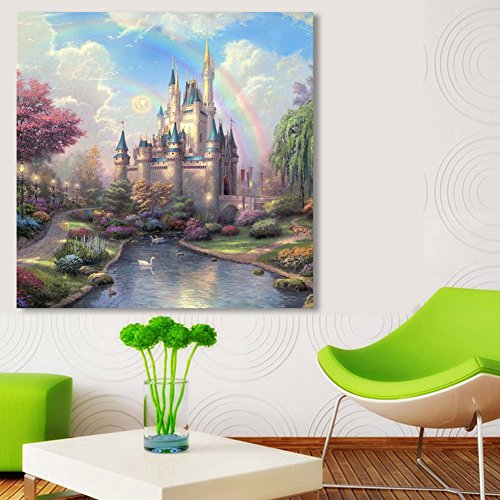 Awakingdemi Diy Diamond Painting Ancient Castle Resin With Drill Painting Cross Stitch Wall