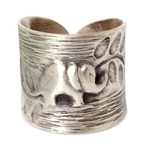 Thai Rings - NOVICA .925 Sterling Silver Fair Trade Animal Theme Wrap Ring, Thai Forest Elephant'