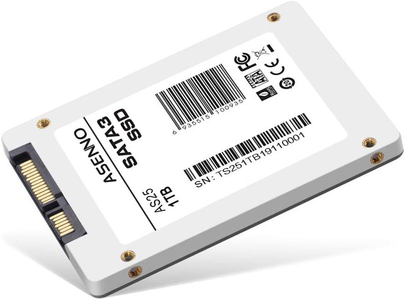 ASENNO 1TB 960GB 512GB 2,5 Pulgadas SSD con 1024 MB de Memoria SATAIII 6 GB/s de Disco Duro Interno de Estado sólido para Notebook Tablet PC de Escritorio: Amazon.es: Electrónica