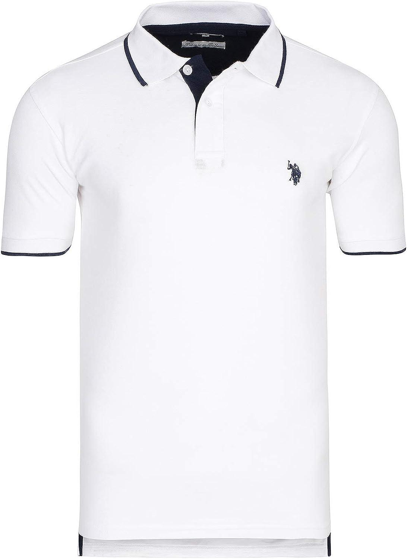 US Polo ASSN. Shortsleeve Polo Hombres del Polo Camisa Blanca ...