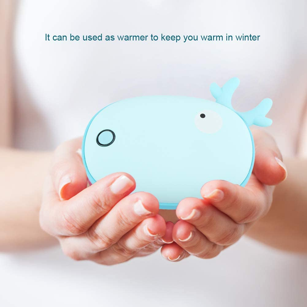 Deer 2 in 1 Warmer 5000mAh Rechargeable Cute Animal Power Bank Reusable Traveling Hand Charger Best Gift in Cold Winter