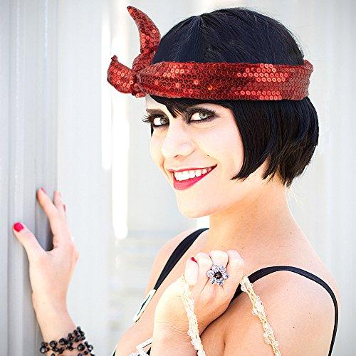 Bracelet Calypso Studios - Calypso Studios Glitz Bendi Sequin Wire Headband, Red