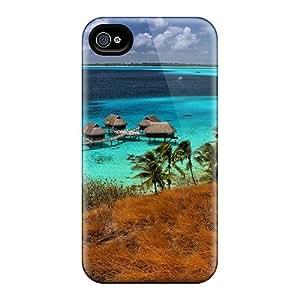 Hot Fashion XBNFBuc937yzSdi Design Case Cover For Iphone 4/4s Protective Case (bora Bora Water Bungalows)