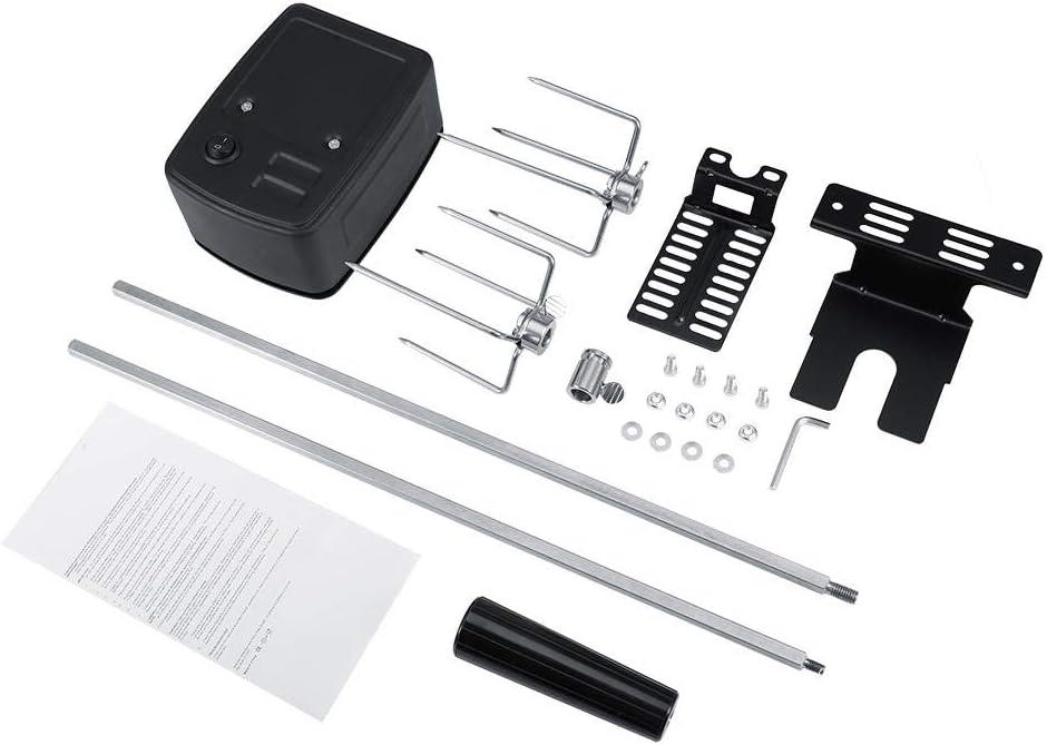 Fdit Kit de Asador Universal Parrilla Completo para Barbacoas de Carne de Acero Inoxidable con Barra Motor Eléctrico