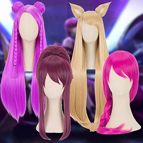 Fokine Women Girls Wig Game Character Cosplay Wigs Heat Resistant Synthetic Hair Cosplay Long Wig - Wig Blonde Character