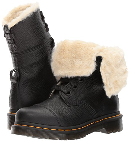martens 9 Fur Lined Boots Noir Aimilita eyelet Womens Leather Dr ZqwFdCxUw