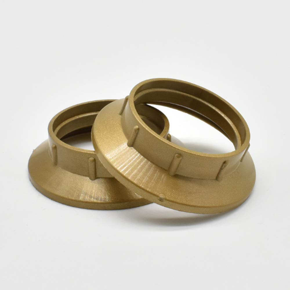 lampade da parete e lampade a stelo. 2 pezzi anello a vite E14 plastica oro per portalampada anello filettato per paralume lampada o elementi in vetro per lampade da tavolo