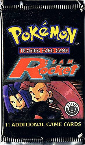 Pokemon Card Game - Team Rocket 1st Edition Booster Pack - 11 Cards (Pokemon Team Booster Rocket)