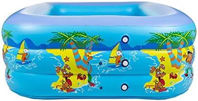 GAOYY Piscina Inflable PVC Engrosamiento Inflable Y Piscina De Burbujas Alta Piscina Infantil para Niños Pequeños,Blue-150 * 100 * 45: Amazon.es: Hogar