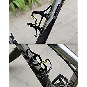 Bicycle Lightweight Aluminum Water Bottle Cage Alloy Bike Bottle Holder Bike Accessories Yellow