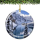 "City-Souvenirs Colorado Rockies Christmas Ornament, Porcelain 2.75"" Double Sided Christmas Ornaments"
