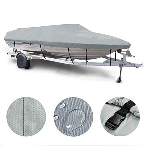 Roadstar 16-18Ft Boat Cover Heavy Duty 600D Oxford Fabric Waterproof Trailerable Fishing Ski Runabout Protector with Carrying Bag, V-hull 95