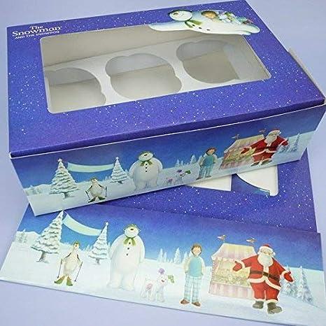 Amazon.com: El Muñeco De Nieve Y El Snowdog Cupcake Caja ...