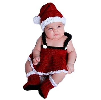 4608ff86bcc5c J-LAVIE 寝相アート サンタ コスチューム 毛糸 女の子 着ぐるみ クリスマス サンタクロース 3点set ハロウィン