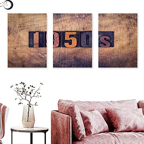 Anniutwo 1950s Abstract Painting Vintage Lettering Wooden Wall Wall Painting W 24