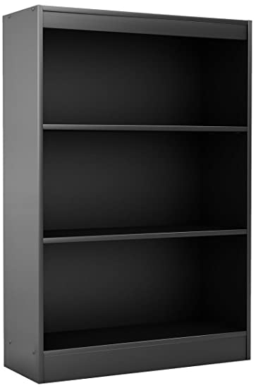 South Shore Axess Collection 3 Shelf Bookcase, Black