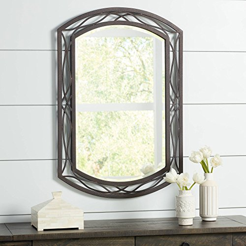 Franklin Iron Works Woven Bronze Metal 24 x 35 1 2 Wall Mirror
