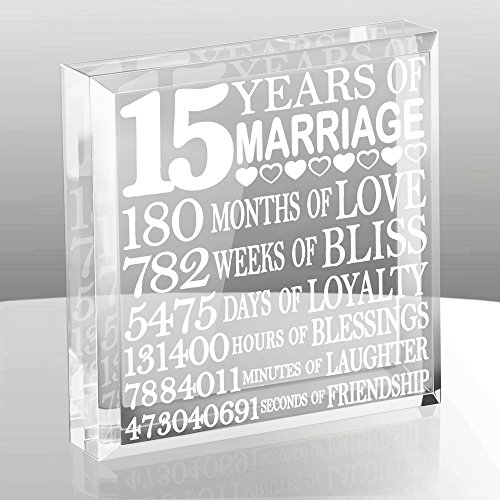 Kate Posh - Fifteen (15) years of Marriage - Our 15th Anniversary Keepsake & Paperweight by Kate Posh (Image #1)