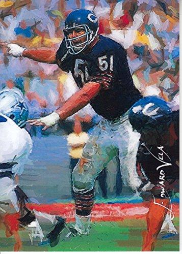 Dick Butkus #4-17/25 - VERY RARE - Chicago Bears - HALL OF FAME - Limited Edition Original Artwork Sketch Card