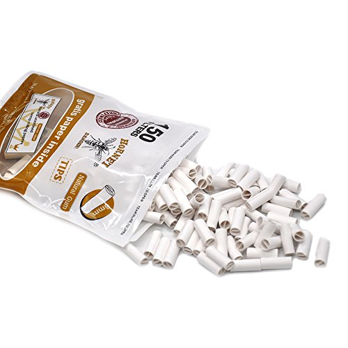 Clearance Sale!UMFun 150Pcs Hornet Per Rolled Tips Natural Prerolled For Rolling Paper 6mm (White)