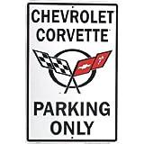 Chevrolet Corvette Parking only metal sign