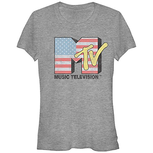 MTV New Flag - Heather Girls Jr Small Athletic