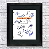 Chicago Fire TV Cast Autographed Signed Reprint 8.5x11 Script Framed 13x15 Taylor Kinney, Kelly Severide, Jesse Spencer, Matthew Casey, Yuri Sardarov, Christian Stolte, Lauren German, Charlie Barnett