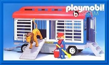 Hedendaags Amazon.de:PLAYMOBIL® 3514 - Zirkuswagen Löwenanhänger QE-96