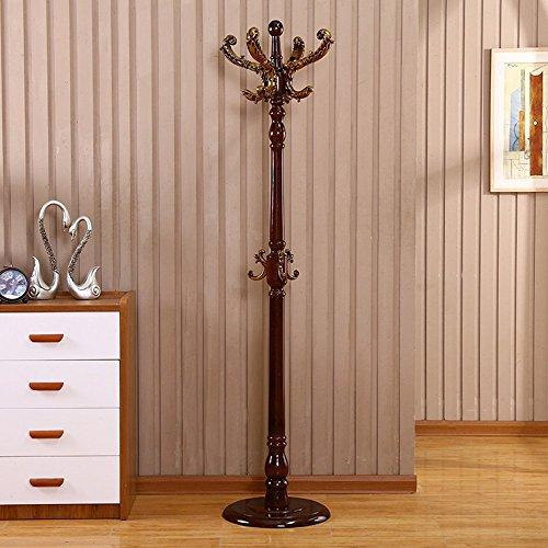 HOMEE Coat Racks Floor Solid Wood Hangers Creative Bedroom Single Pole Vertical Coat Racks Living Room Wood Floor Hangers (Multiple Styles Available),#5 by HOMEE