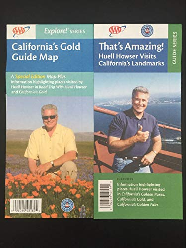 Huell Howser 'California's Gold' and 'That's Amazing' AAA Guide Maps Combo Pack