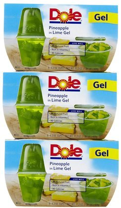 Dole Fruit Bowls Pineapple In Lime Gel 17.2OZ (Pack of 18) by Dole