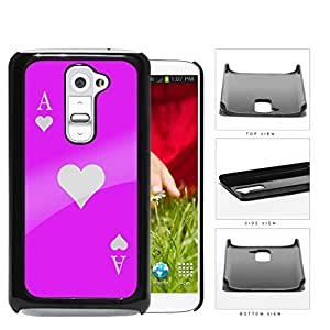 Ace Of Spade Pink Playing Card Hard Plastic Snap On Cell Phone Case LG G2