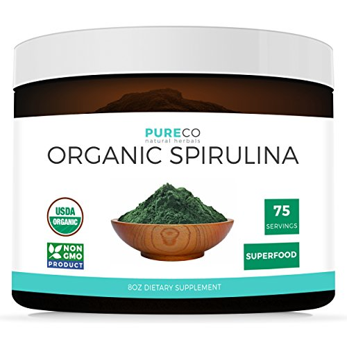 Cheap USDA Organic Spirulina Powder 8OZ (Vegan) 75 Servings of This Highest Quality Superfood: Blue Green Algae (Non-Irradiated) Non-GMO – Perfect to add a Powerful Nutrient Boost to Smoothies & Juices