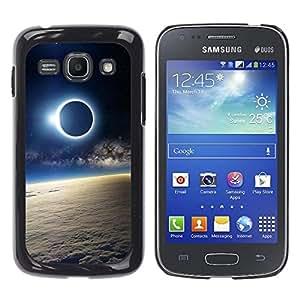 Qstar Arte & diseño plástico duro Fundas Cover Cubre Hard Case Cover para Samsung Galaxy Ace 3 III / GT-S7270 / GT-S7275 / GT-S7272 ( Moon Sun Eclipse Earth Atmosphere View)