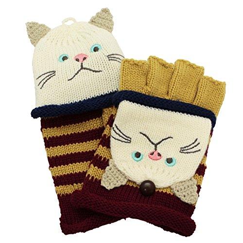 手袋 ハンドターチャン 猫 ピンク ZW-306-525