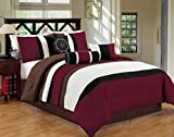 Closeout 7 Piece Bed / Comforter in a Bag (Queen, Red / Brown)