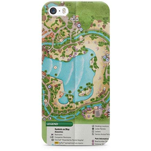 Queen of Cases Hard Shell Phone Case - Typhoon Lagoon - Disney World Lagoon Typhoon Map
