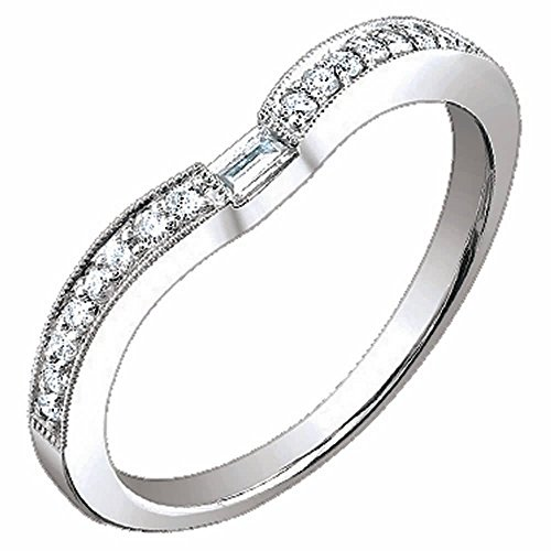 0.20ct TDW White Diamonds 18K White Gold Rolling Women's Comfort (16 Ct Diamond Ring)