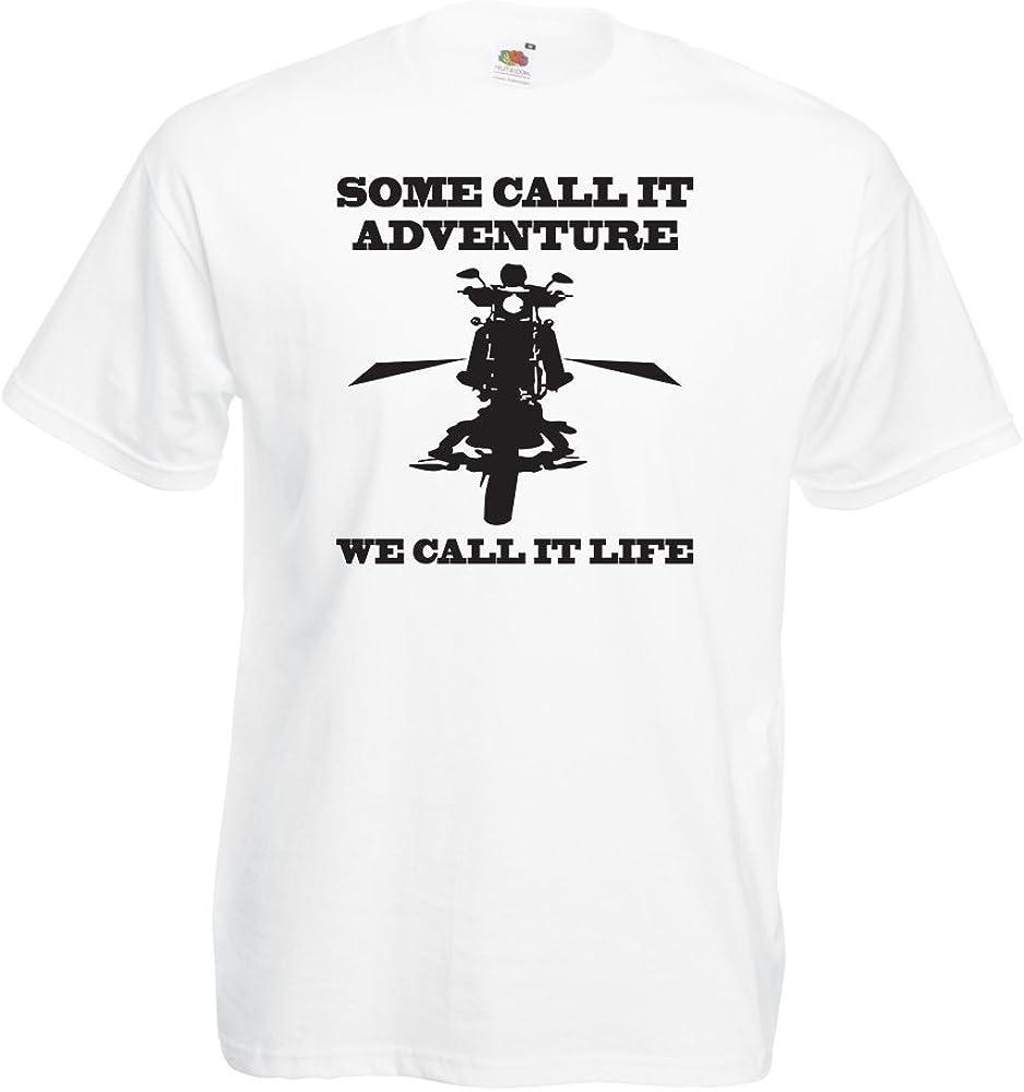 lepni.me Camisetas Hombre ¡Lo llamamos Vida Tras Las rejas! Ropa Estilo Motero (Small Blanco Multicolor): Amazon.es: Ropa y accesorios
