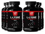 Fitness diet and nutrition - L-LYSINE IMMUNE BOOSTER 500 - Improve physical performance - 6 Bottles 600 tablets