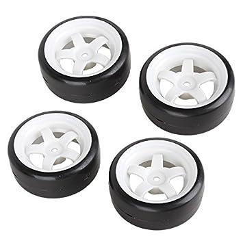 4 ruedas de goma con 5 radios neumáticos para coches de carrera a escala 1:10: Amazon.es: Coche y moto
